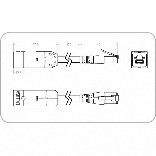 Zeichnung zum Netzwerkisolator EMOSAFE EN-85e