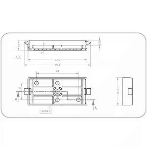 Zeichnung Wandmontageplatte Z-6-W von Netzwerkisolator EN-1005+