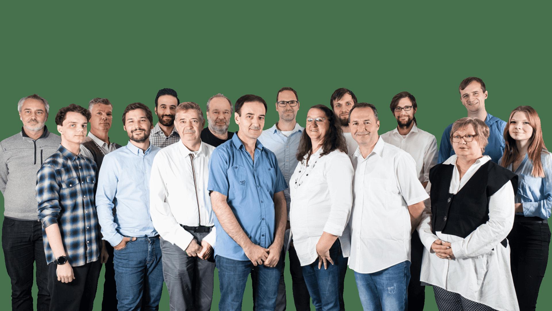 Teamfoto von Mitarbeitern der EMO Systems GmbH